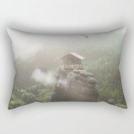 House on top of the Mountain Rectangular Pillow