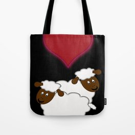 Sheeps in Love Tote Bag