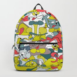 Funny doodle colorful cats.Seamless pattern Backpack