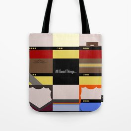 All Good Things - square Minimalist Star Trek TNG The Next Generation 1701 D  startrek  Trektangles Tote Bag
