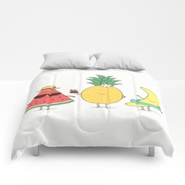 tropical fruits Comforters