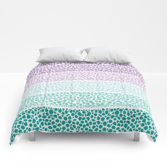Riverside Colored Pebbles Comforters