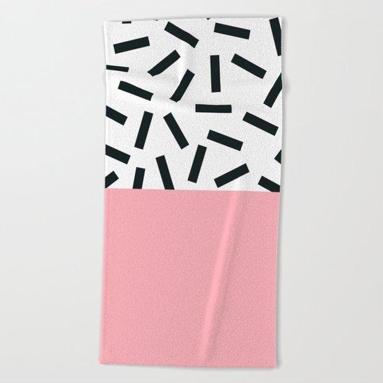 Memphis pattern 20 Beach Towel