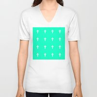 cross V-neck T-shirts featuring Cross by HW Studio