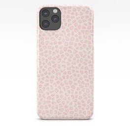 Modern ivory blush pink girly cheetah animal print pattern iPhone Case