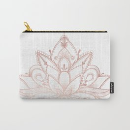 Boho Lotus Rose Gold Carry-All Pouch