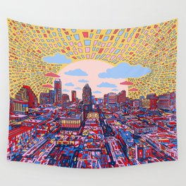 austin texas city skyline Wall Tapestry