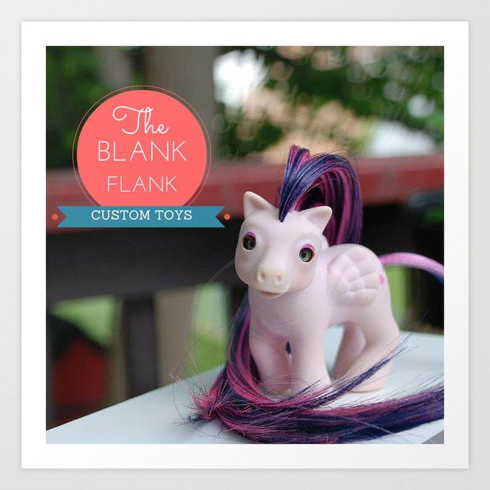 My Little Pony: Baby Heart Throb Custom - The Blank Flank Art Print By  Amymcwilliams Society6