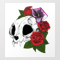 Kitty Skull Art Print
