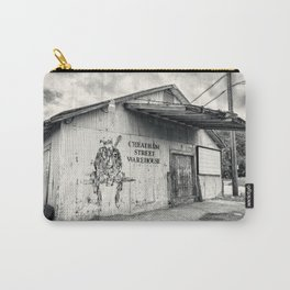 Black & White/Sepia-toned Photograph of Cheatham Street Warehouse, San Marcos, Texas Carry-All Pouch