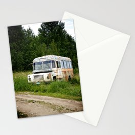 A Bus in Russia Stationery Cards