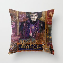 Voodoo Child Throw Pillow