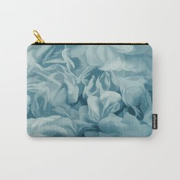 Soft Baby Blue Petal Ruffles Abstract Carry-All Pouch