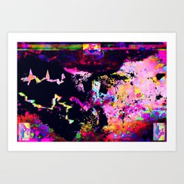 Allegedly Majestic Dragons Competing for Scraps Art Print