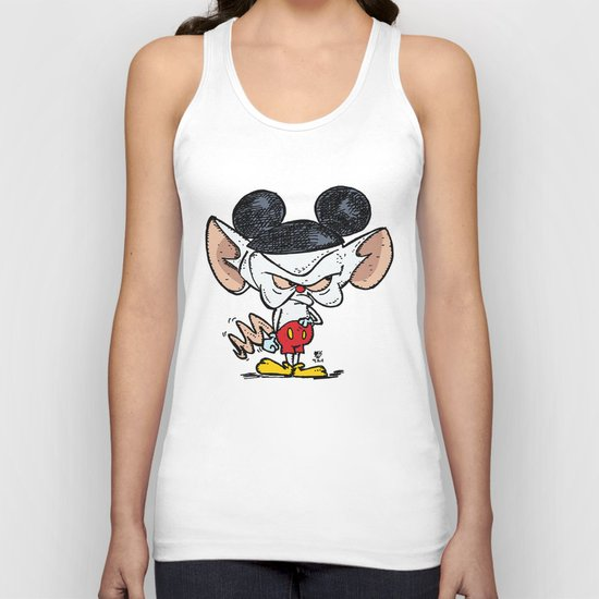 Brain of Animaniacs : Capitalism Stole My Integrity; all i want is a world domination.  Unisex Tank Top