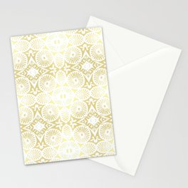 gilded flower power Stationery Cards