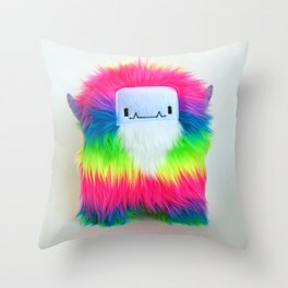 Biff the Rainbow Monster Throw Pillow