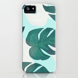 Palm leaves extravaganza iPhone Case