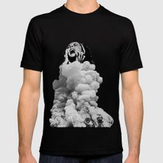 Collapse Black SMALL Mens Fitted Tee