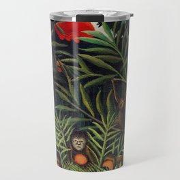 Henri Rousseau - Monkeys and Parrot in the Virgin Forest Travel Mug