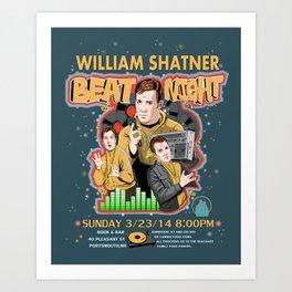 William Shatner Beat Night 2014 Art Print