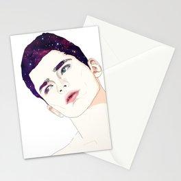 Dark eyebrows Stationery Cards