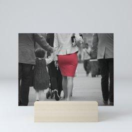Red skirt. Mini Art Print