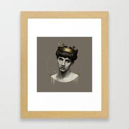 THE GOLDEN KING Framed Art Print