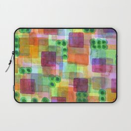 Red Bungalows and Trees Laptop Sleeve