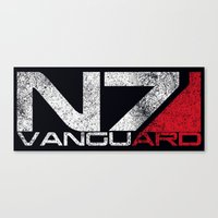 n7 Canvas Prints featuring N7 Vanguard by Draygin82
