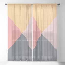 Geometric Pattern XI Sheer Curtain