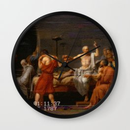 Socrates greek aesthetics Wall Clock