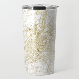 Bern Map Gold Travel Mug