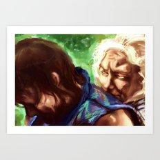 Daryl & Beth WD Art Print