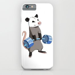Funny Weight Lifting Fitness Gym Opossum iPhone Case