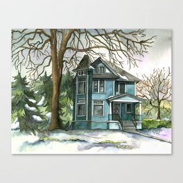 The House Under the Big Tree Canvas Print