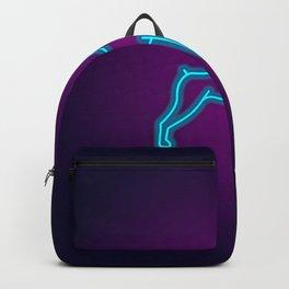 NEON DOBERMAN DOG Backpack
