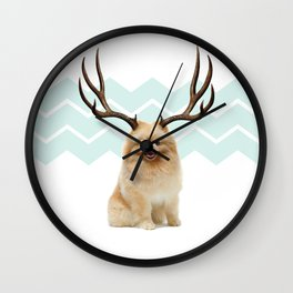 Puppy&Antlers Wall Clock