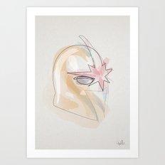 One Line Centurion Nova's helmet Art Print
