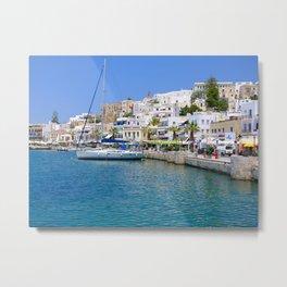 Beautiful Naxos in the Greek Islands Metal Print