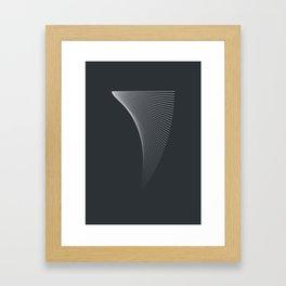 iterative lines Framed Art Print