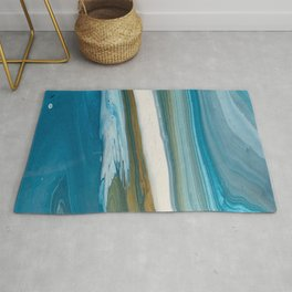 Abstract Acrylic Pour Painting Rug