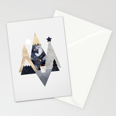 Christmas Mountains Stationery Cards