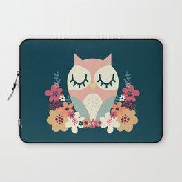 Floral Owl / Cute Animal Laptop Sleeve