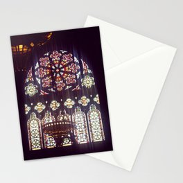 Stained Glass Church Stationery Cards