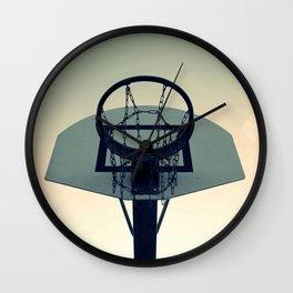 Basketball Sunset Wall Clock