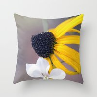 friendship Throw Pillows featuring Friendship by Laura George
