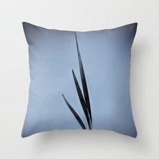 Water Reed Art Throw Pillow