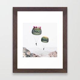 Flying Cacti Framed Art Print