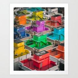 Rainbow Real Estate Art Print